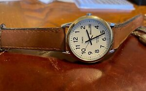 Men#x27;s 36mm Silver Tone Timex Watch Indiglo WR to 30M Day and Date