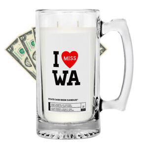 I MISS WA JEWELRY CANDLES CASH MUG STATE SCENTED POPULAR amp; FAVORITE 100% SOY
