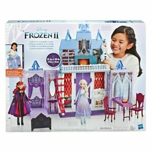 NEW Disney Frozen 2 Fold and Go Portable Arendelle Castle Dollhouse Playset New $49.60