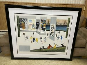 Leo Posillico Shoppers Paradise Serigraph Lithograph Signed Numbered Framed $150.00