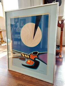 Original Colored Lithograph Mixed Media Signed and Numbered by artist A. Guanse $400.00