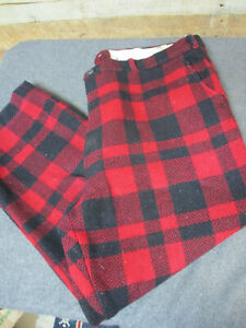 """Vintage Rough Rider Woods Red Plaid Wool Outdoor Hunting Pants 40quot; X 25"""""""