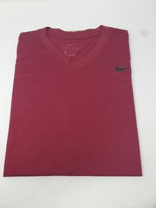 Nike Dry Fit Mens T Shirt Burgundy Red Size Medium $15.00