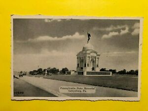 GETTYSBURG PA * CIVIL WAR BATTLEFIELD * Pennsylvania State Memorial 1940s $5.80