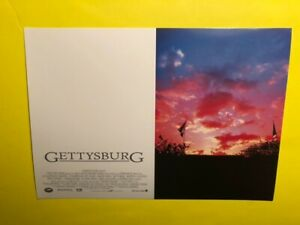 GETTYSBURG Movie 1993 Lobby Card * Civil War Epic Film * Battle of Gettysburg $8.91