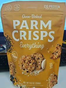 Oven Baked ParmCrisps Everything 9.5 oz Party Size Bag Keto Cheese Snacks