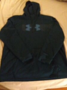 Under Armour Cold Gear Hoodie Hooded Fleece Pullover Loose Fit Men's 2XL 2TG 2EG $40.00