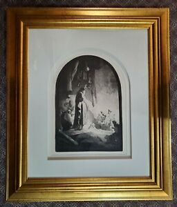 REMBRANDT Etching c. 1632 quot;The Raising of Lazarusquot; Larger Plate Framed $5500.00