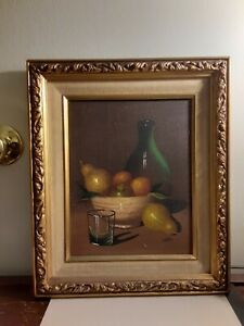 Antique original oil painting framed signed Martin 8x10 $124.99