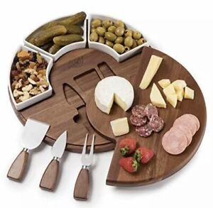 Shanik Upgraded Cheese Cutting Board Set Acacia Wood Charcuterie Board Set $59.99