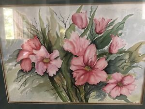 """Vintage Watercolor Painting Jeanne Thomas Approx. 20"""" X 14"""" $45.00"""