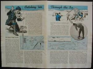 ICE FISHING Tips 1944 Robert Page Lincoln How To article