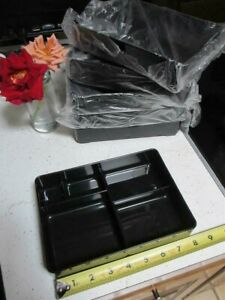 6 food bento box trays boxes organizers 5 dividers sections desk drawer snacks