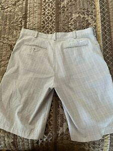 Nike Dri Fit Shorts Mens Size 34; Beige Plaid pre owned $5.00