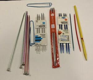 Mixed Lot of Vintage Knitting Needles and Sewing Items Various Supplies $6.99