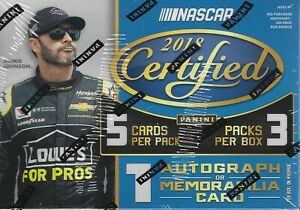 2018 Panini Certified Racing NASCAR New Factory Sealed Blaster Box AUTO RELIC $18.99