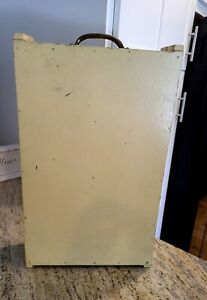 Vintage Sewing Storage Wooden Case. Travelling Thread Sewing Supplies Carrier. $45.00