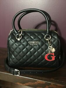 Guess Illy Quilted Box Satchel $95.00