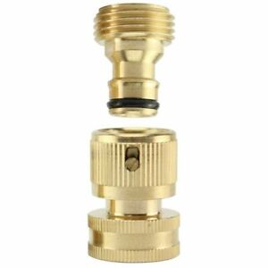 3 4 Garden Hose Quick Connect Water SOLID Brass Female Male Connector Set