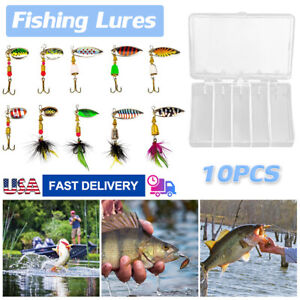 10PCS Fishing Lures Fishing Spoon Trout Lures Bass Lures Spinning Lures