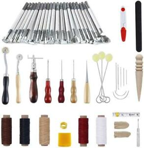 336Pcs Leather Craft Tools Kit Working Tools Leather Sewing Set Hand Stitching $23.89