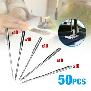 50PCS Home Sewing Machine Needle 11 7512 8014 9016 100 Fit Brother Singer Kit $4.36