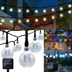 20ft Outdoor Solar String Lights 30 LED Bulb Garden Patio Party Waterproof Decor $10.59