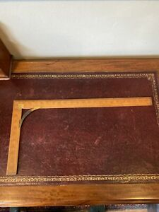 LARGE ANTIQUE VINTAGE 24quot; RIGHT ANGLE SET SQUARE RULER GREAT GBP 45.00