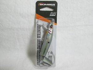 New BOMBER 4 1 2quot; Jointed 1 2 Oz. Wake Minnow quot;Tenn Shadquot; Topwater Lure