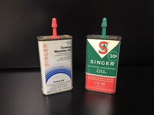 VINTAGE SINGER SEWING MACHINE OIL 4 OZ. CAN GREAT SHAPE $8.50