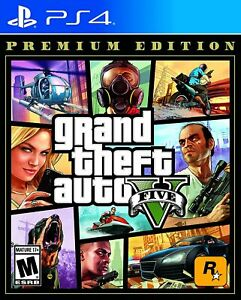 Grand Theft Auto V Premium Edition GTA 5 PS4 PlayStation 4 New Factory Sealed $23.99