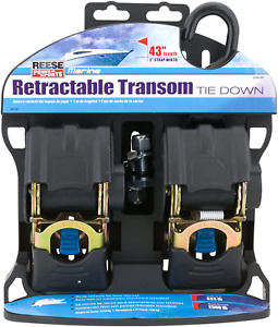 Retractable Boat Transom Tie Down Straps Marine 2500 Lbs Trailer 43 In 2 Pack $45.88