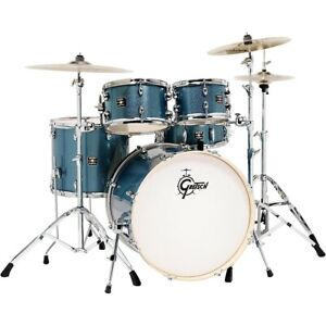 Gretsch Drums Energy 5 Piece Drum Set Blue Sparkle w Hardware Zildjian Cymbals $619.99