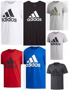 Adidas Badge of Sport Tee Mens Small to 2XL Authentic Short Sleeve T Shirts $18.95