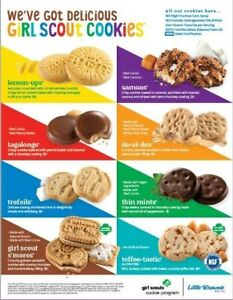 2021 Girl Scout Cookies Are Here 7 flavors to choose from FREE SHIPPING
