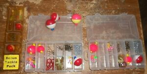 3 lot plano #3455 containers with fishing supplies in nice shape used