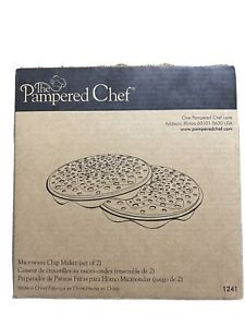 The Pampered Chef Microwave Chip Maker set of 2