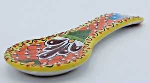 Spoon Rest Talavera Ceramic Kitchen Utensil Holder Made in Mexico Various Colors