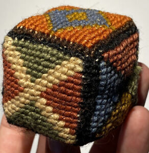 Antique Early Amish Sewing Crotchet Square Pin Cushion Sewing Square Fantastic $249.99