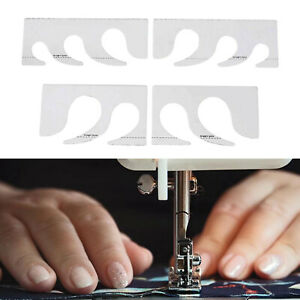 4x Quilting Rulers Acrylic Sewing Machine Grid Stencil Patchwork Template $15.88