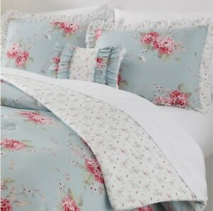 Simply Shabby Chic Twin Bella Hydrangea Comforter Set Pillow Polyester EasyCare
