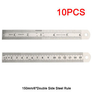 Double Side Metal Ruler Stainless Steel 15cm 6quot; $9.99