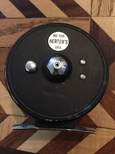 Vintages Herter's No 709 Fly Fishing Reel Trout Fish Herter Sn2376