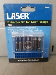 Laser Tools Extractor Set for Torx Fixings 7pc 5964 GBP 13.99