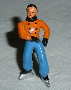 VINTAGE BARCLAY Lead quot;Boy Skater In Orange Blue Pantsquot; EX Cond Free Ship Lot C