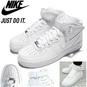 Nike Men#x27;s Air Force 1 Mid #x27;07 Triple White Casual Shoes CW2289 111 US Size 8 15 $99.00