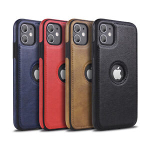 For iPhone 12 11 Pro XR XS MAX 8 7 Plus SLIM Luxury Leather Back Thin Case Cover $8.39
