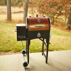 Portable Tailgate Camp Pellet Grill 340 Sq. In. w Folding Legs Picnics Camping