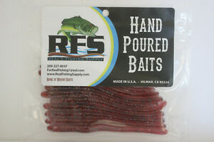 Wright Baits Hand Poured Straight Tail Worm 4quot; #601COP $4.39