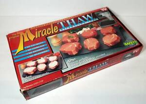 New In Box Genuine 1995 The Original Miracle Thaw Defrosting Tray As Seen On